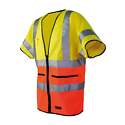 Varoliivi 306 STD keltainen/oranssi EN 20471 luokka 3